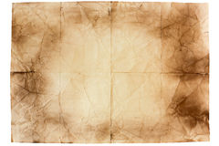 Sheet of old paper Royalty Free Stock Photo