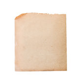 Sheet of old paper isolated. On a white background Stock Photography