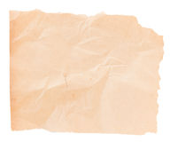 Sheet of old paper isolated Royalty Free Stock Photo