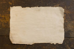 Sheet of the old rough paper Stock Image