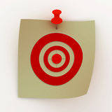 Sheet painted with a target. 3D image Stock Photo