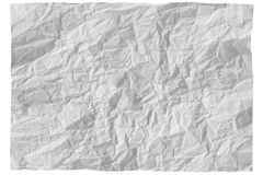 Sheet of paper. White sheet of paper on white background Royalty Free Stock Photos