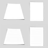 Sheet of paper. Perspective and top view white paper Stock Photography