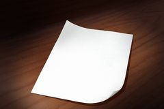 Sheet of paper royalty free stock image