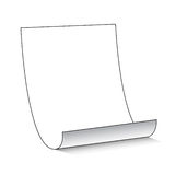 Sheet of Paper. A sheet of blank white paper with space to add your text or design Royalty Free Stock Photos