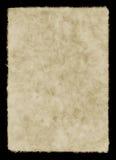 Sheet of Paper. Handmade paper on black background stock image