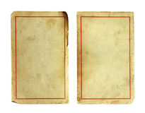 Sheet of paper. Old and dirty sheet of paper isolated on white Stock Image