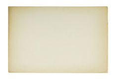 Sheet of paper. Old sheet of paper isolated on white Stock Images
