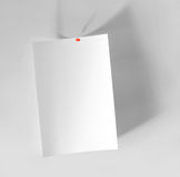 Sheet of paper. Which is located on a wall Royalty Free Stock Image