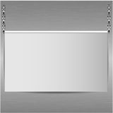 Sheet of paper on a background a metallic  wall Royalty Free Stock Image