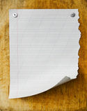 Sheet of paper on the blackboard Royalty Free Stock Photo