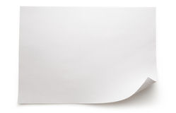 Sheet of paper. Blank sheet of paper on white background royalty free stock photos