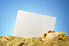 Sheet of paper on a blue background royalty free stock photo