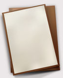 Sheet of paper on board Royalty Free Stock Photos