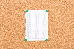 Sheet of paper in the box torn from a notebook Royalty Free Stock Photo