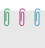 Sheet of paper and broken clips Royalty Free Stock Images