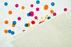 A sheet of paper into a cell Royalty Free Stock Photography