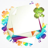 Sheet of paper and clover Stock Photo