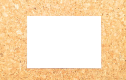 Sheet of paper on cork Royalty Free Stock Photos
