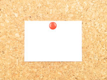 Sheet of paper on cork Stock Image