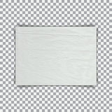 Sheet of paper with crumpled effect on a trasparent background Stock Image
