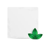 Sheet of paper  decorated with green leaves Stock Images
