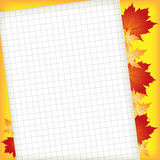 Sheet of paper for entries Stock Image