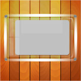 Sheet of paper after glass Royalty Free Stock Photo