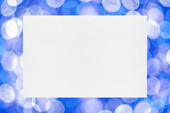 Sheet of paper on holiday background Stock Images