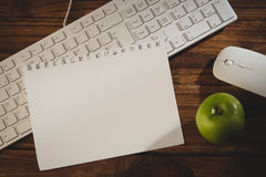 Sheet of paper on keyboard Royalty Free Stock Images