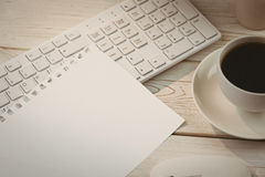 Sheet of paper on keyboard Royalty Free Stock Photography