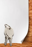 Sheet of paper with keys Stock Image