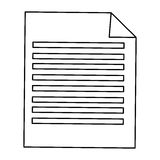 sheet of paper with lines Royalty Free Stock Photos