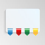 Sheet of paper with multicolor labels. Blank sheet of paper to write information Royalty Free Stock Photography