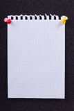 A sheet of paper from a notebook Royalty Free Stock Images