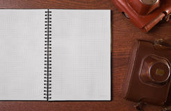 A sheet of paper from a notebook Stock Photo