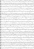 Sheet of paper with notes. Abstract musical background from notes and musical signs Royalty Free Stock Photo