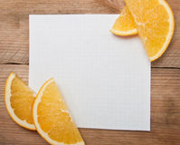 Sheet of paper for notes Royalty Free Stock Photos