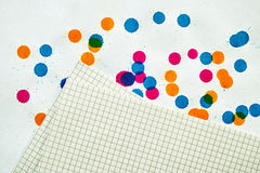 A sheet of paper for notes Royalty Free Stock Images