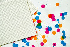 A sheet of paper for notes Stock Photo