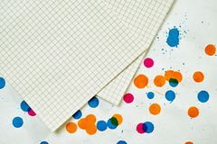 A sheet of paper for notes Royalty Free Stock Image