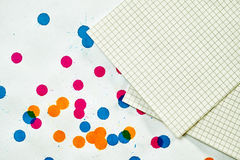 A sheet of paper for notes Stock Photos