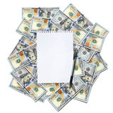 Sheet of paper for notes with a pen Royalty Free Stock Photo