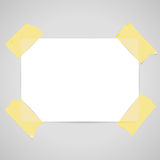 Sheet of paper for notes - vector Royalty Free Stock Photo