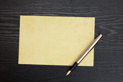 Sheet of paper and pen Royalty Free Stock Photo