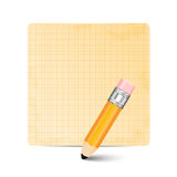 Sheet of paper and pencil Royalty Free Stock Photo