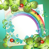 Sheet of paper with rainbow Royalty Free Stock Photography