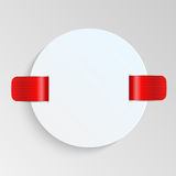 Sheet of paper with red labels Royalty Free Stock Image