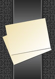 Sheet of paper ribbon gray. A sheet of paper with a ribbon on a background of gray. Vector illustration Stock Images