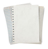 Sheet of paper stack  on white background Stock Photos